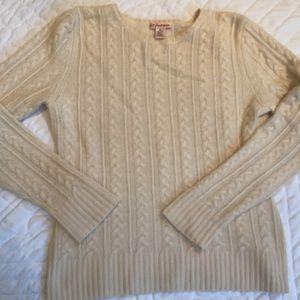 Cream pretty cable cashmere sweater Size M